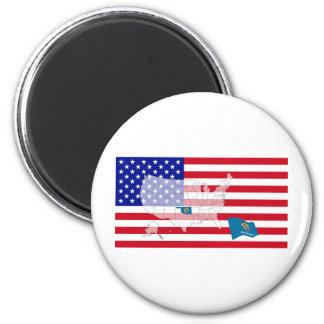 Oklahoma, USA 6 Cm Round Magnet