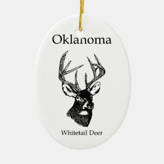 Oklahoma USA (whitetail deer) Christmas Tree Ornament