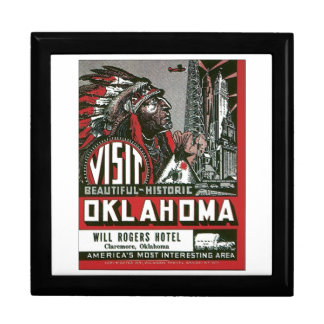 Oklahoma Will Rogers Hotel, Claremore Oklahoma Large Square Gift Box