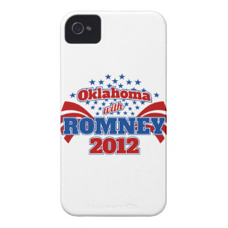 Oklahoma with Romney 2012 Case-Mate iPhone 4 Cases