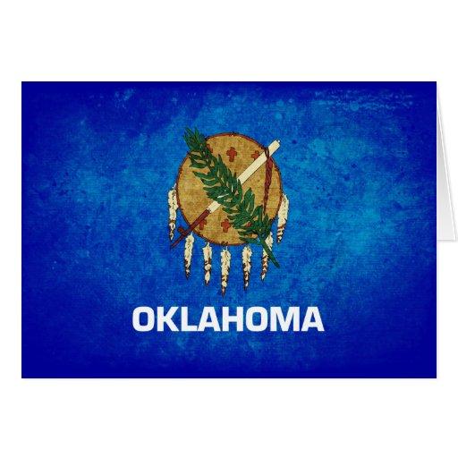 Oklahoman Flag; Greeting Card