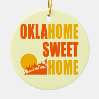 Oklahome Sweet Home Ceramic Ornament