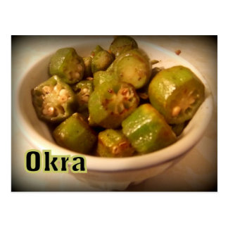 Okra Postcard