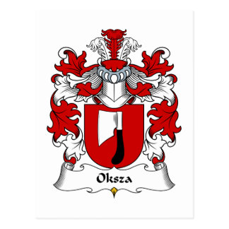 Oksza Family Crest Postcard