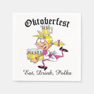 Oktoberfest Barmaid Disposable Napkin
