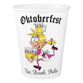 Oktoberfest Barmaid Paper Cup