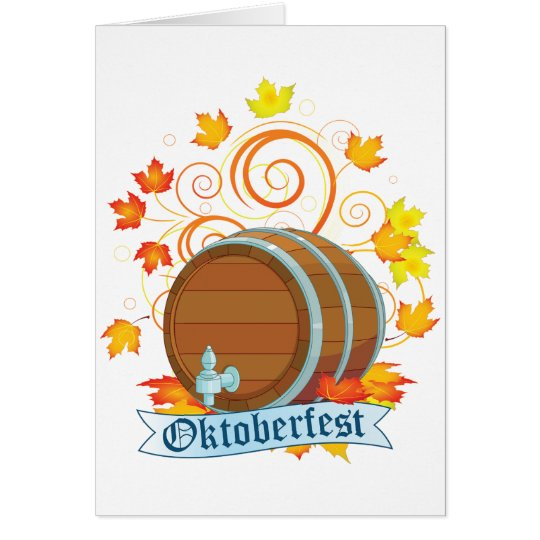 Oktoberfest Barrel Greeting Cards