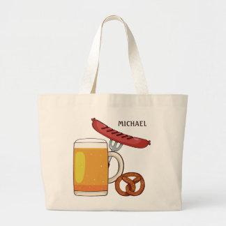 Oktoberfest BBQ custom name tote bags