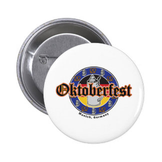 Oktoberfest Beer and Pretzels Button