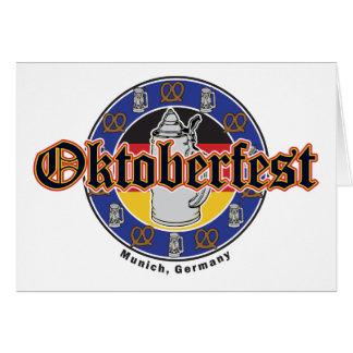 Oktoberfest Beer and Pretzels Card