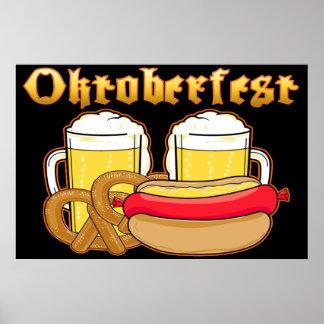 Oktoberfest Beer Bratwurst Pretzel Poster