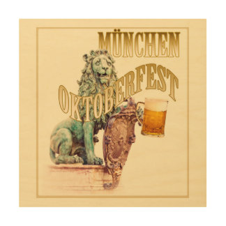 Oktoberfest beer festival in Munich Wood Wall Art