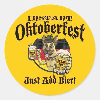 Oktoberfest Beer Hound Classic Round Sticker