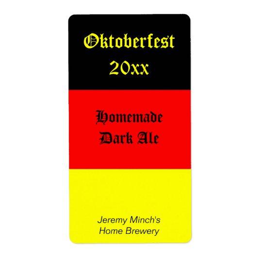 Oktoberfest Beer Label Shipping Label