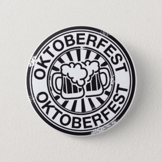 Oktoberfest beer logo 6 cm round badge