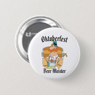 Oktoberfest Beer Meister 6 Cm Round Badge