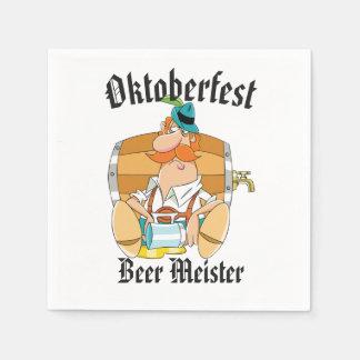 Oktoberfest Beer Meister Disposable Serviette