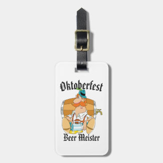 Oktoberfest Beer Meister Luggage Tag