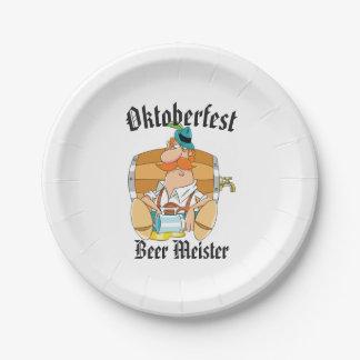 Oktoberfest Beer Meister Paper Plate