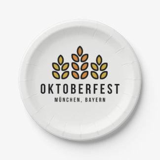 Oktoberfest Beerfest Festival Paper Plate