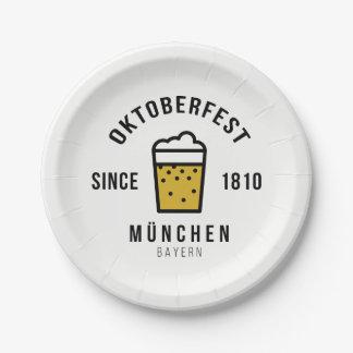 Oktoberfest Beerfest Festival Since 1810 Paper Plate