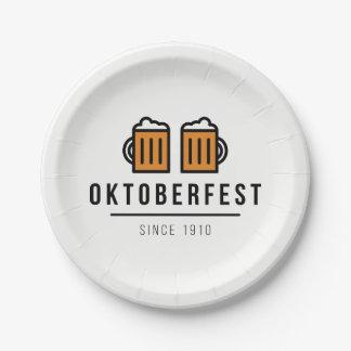 Oktoberfest Beerfest Festival Since 1910 Paper Plate