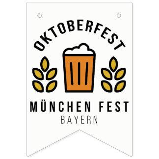 Oktoberfest Beerfest Munchen Fest Bayern Bunting