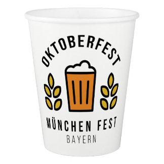 Oktoberfest Beerfest Munchen Fest Bayern Paper Cup