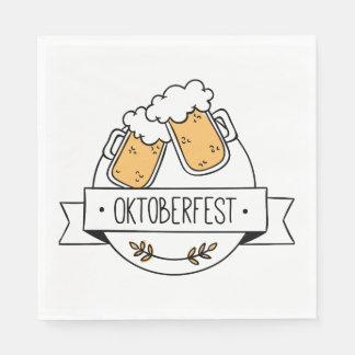 Oktoberfest Beerfest Paper Napkins