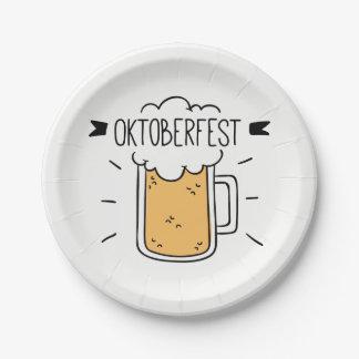 Oktoberfest Beerfest Paper Plate