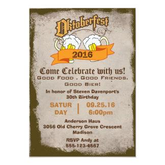 Oktoberfest Birthday Party Invite