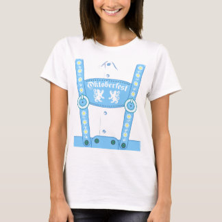 Oktoberfest Blue Lederhosen T-Shirt