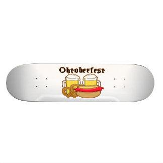 Oktoberfest Bratwurst & Beer Custom Skateboard