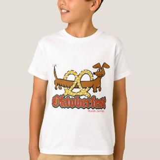 Oktoberfest-Cartoon-Pretzel-Doxie T-Shirt