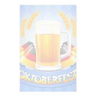 Oktoberfest Celebration Background With Stationery