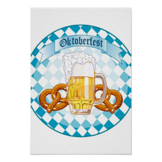 Oktoberfest Celebration Round Design Poster