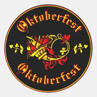 Oktoberfest Cornucopia Classic Round Sticker