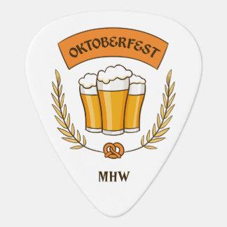 Oktoberfest custom monogram guitar picks
