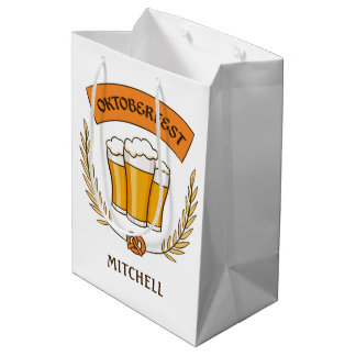 Oktoberfest custom name medium gift bag
