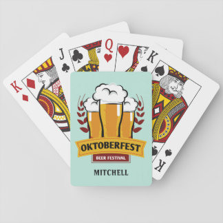 Oktoberfest custom name playing cards