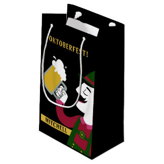 Oktoberfest custom name small gift bag
