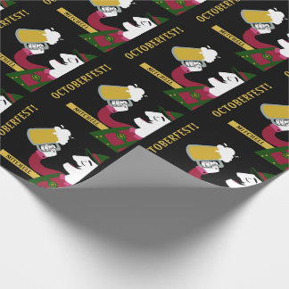 Oktoberfest custom text wrapping paper