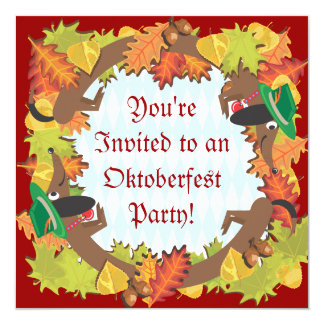 Oktoberfest dachshund Party Invitation