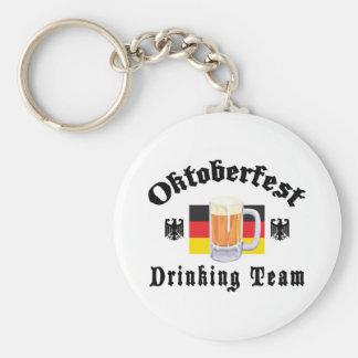 Oktoberfest Drinking Team Basic Round Button Key Ring