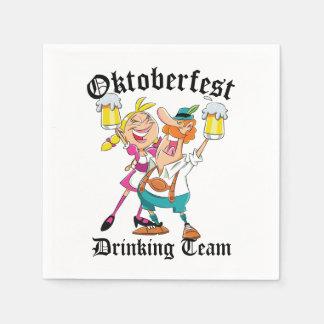 Oktoberfest Drinking Team Disposable Napkin