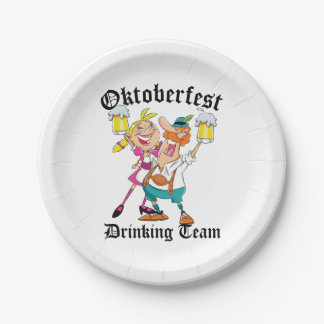 Oktoberfest Drinking Team Paper Plate