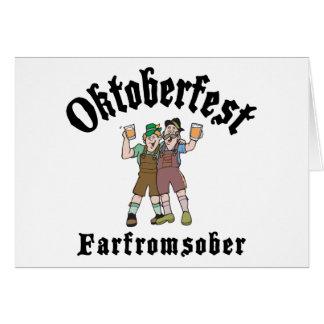 Oktoberfest Far From Sober Card