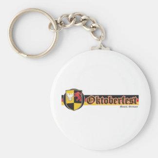Oktoberfest-Fest-Banner Basic Round Button Key Ring