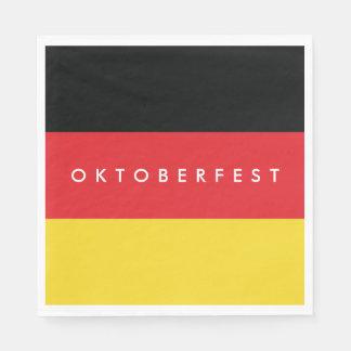 Oktoberfest. Flag of Germany. Paper Napkin