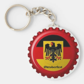 OKTOBERFEST GERMAN BOTTLECAP DESIGN KEY RING